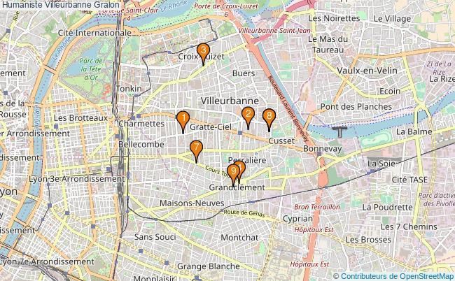 plan Humaniste Villeurbanne Associations Humaniste Villeurbanne : 8 associations
