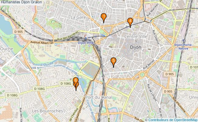 plan Humanistes Dijon Associations humanistes Dijon : 6 associations