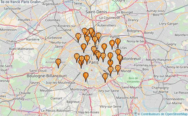 plan Ile de france Paris Associations Ile de france Paris : 172 associations