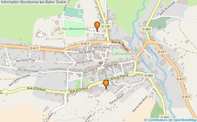 plan Information Bourbonne-les-Bains Associations information Bourbonne-les-Bains : 2 associations