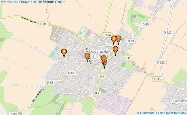 plan Information Douvres-la-Délivrande Associations information Douvres-la-Délivrande : 9 associations