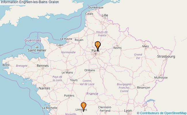 plan Information Enghien-les-Bains Associations information Enghien-les-Bains : 11 associations