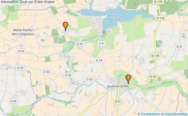 plan Information Joué-sur-Erdre Associations information Joué-sur-Erdre : 2 associations