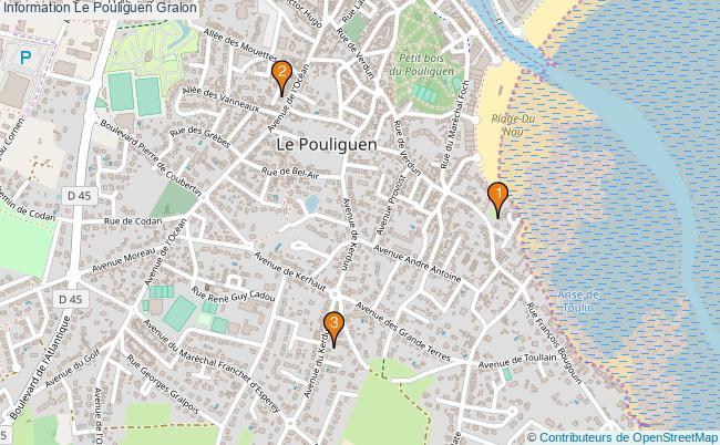 plan Information Le Pouliguen Associations information Le Pouliguen : 3 associations