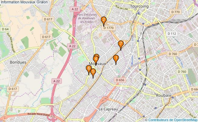 plan Information Mouvaux Associations information Mouvaux : 7 associations