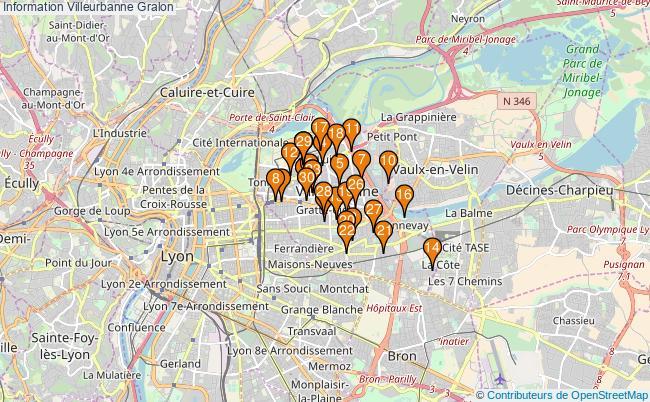 plan Information Villeurbanne Associations information Villeurbanne : 125 associations
