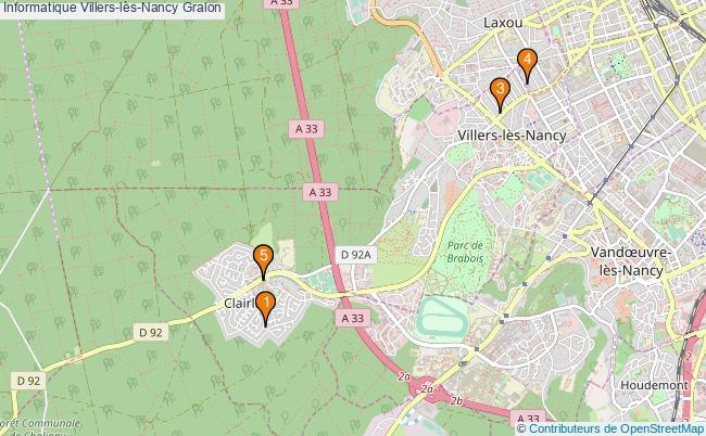 plan Informatique Villers-lès-Nancy Associations informatique Villers-lès-Nancy : 6 associations