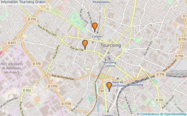 plan Inhumation Tourcoing Associations inhumation Tourcoing : 3 associations