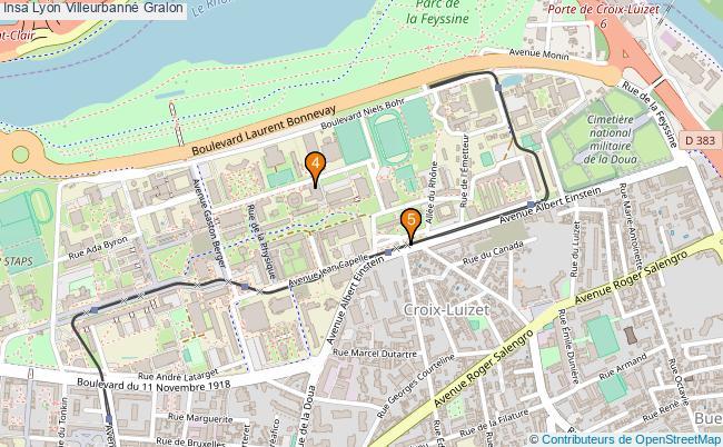 plan Insa Lyon Villeurbanne Associations Insa Lyon Villeurbanne : 7 associations