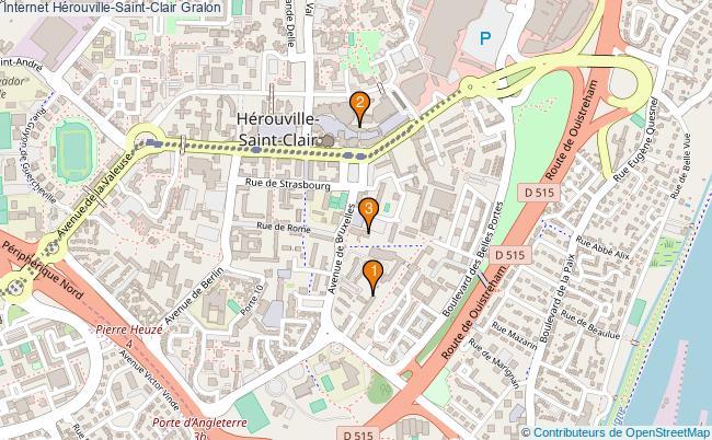 plan Internet Hérouville-Saint-Clair Associations Internet Hérouville-Saint-Clair : 3 associations