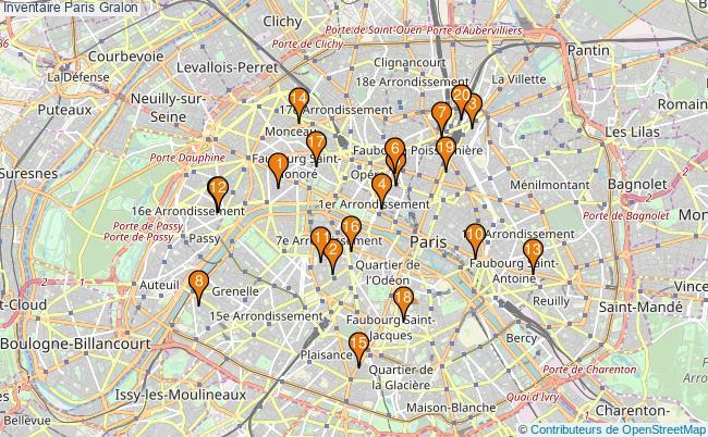 plan Inventaire Paris Associations inventaire Paris : 25 associations