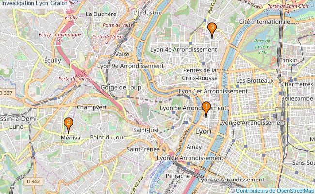 plan Investigation Lyon Associations investigation Lyon : 3 associations