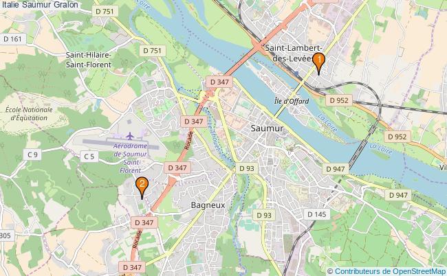 plan Italie Saumur Associations Italie Saumur : 2 associations