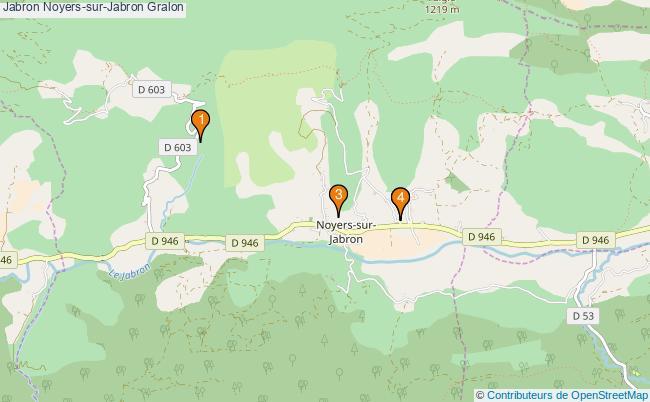 plan Jabron Noyers-sur-Jabron Associations Jabron Noyers-sur-Jabron : 4 associations