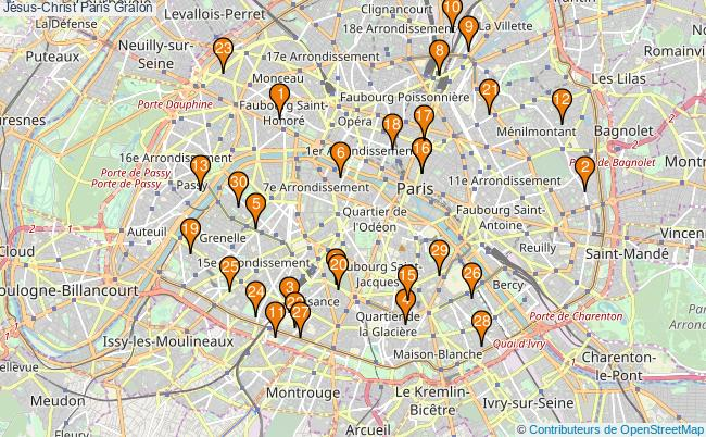 plan Jésus-Christ Paris Associations Jésus-Christ Paris : 65 associations
