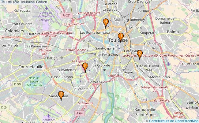 plan Jeu de rôle Toulouse Associations jeu de rôle Toulouse : 5 associations