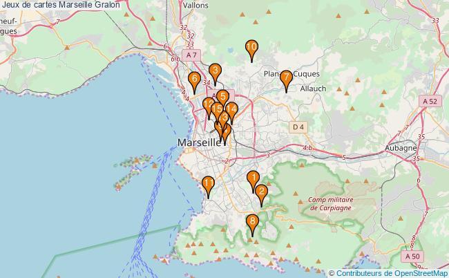 plan Jeux de cartes Marseille Associations jeux de cartes Marseille : 17 associations