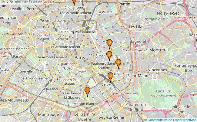 plan Jeux de rôle Paris Associations jeux de rôle Paris : 8 associations