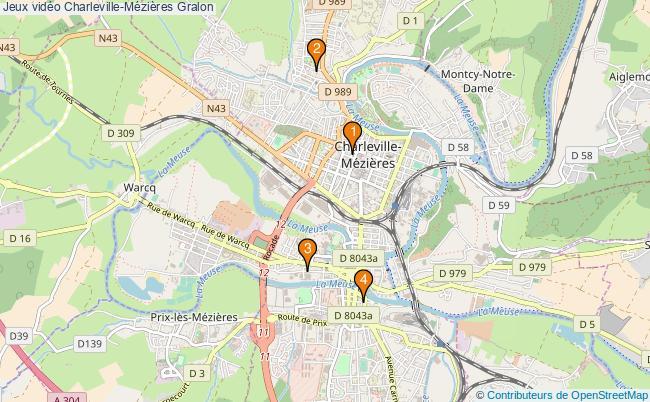 plan Jeux vidéo Charleville-Mézières Associations jeux vidéo Charleville-Mézières : 4 associations