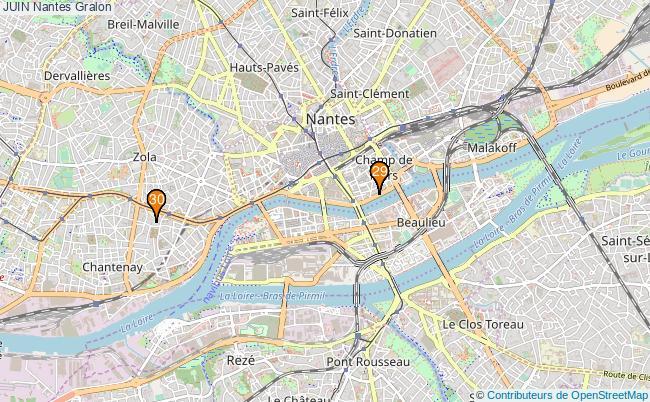 plan JUIN Nantes Associations JUIN Nantes : 41 associations