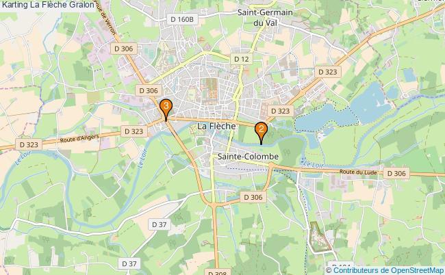 plan Karting La Flèche Associations karting La Flèche : 3 associations