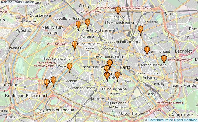 plan Karting Paris Associations karting Paris : 17 associations