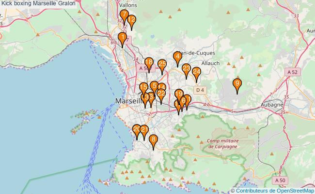 plan Kick boxing Marseille Associations kick boxing Marseille : 26 associations