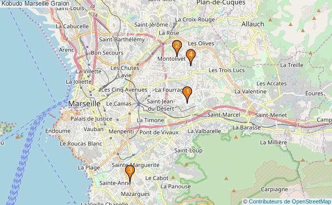 plan Kobudo Marseille Associations kobudo Marseille : 4 associations
