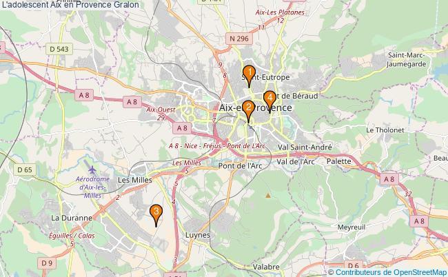 plan L'adolescent Aix en Provence Associations l'adolescent Aix en Provence : 4 associations