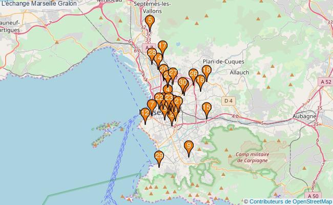 plan L'échange Marseille Associations l'échange Marseille : 274 associations