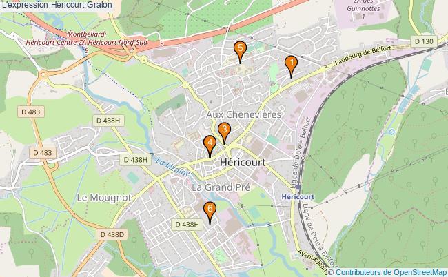 plan L'expression Héricourt Associations l'expression Héricourt : 6 associations