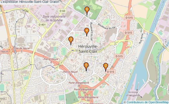 plan L'expression Hérouville-Saint-Clair Associations l'expression Hérouville-Saint-Clair : 6 associations