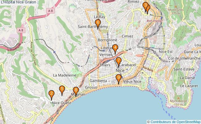 plan L'Hôpital Nice Associations L'Hôpital Nice : 9 associations
