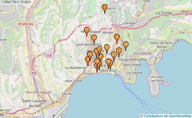 plan L'idéal Nice Associations l'idéal Nice : 29 associations