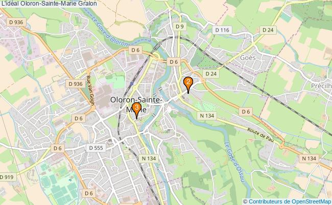 plan L'idéal Oloron-Sainte-Marie Associations l'idéal Oloron-Sainte-Marie : 3 associations