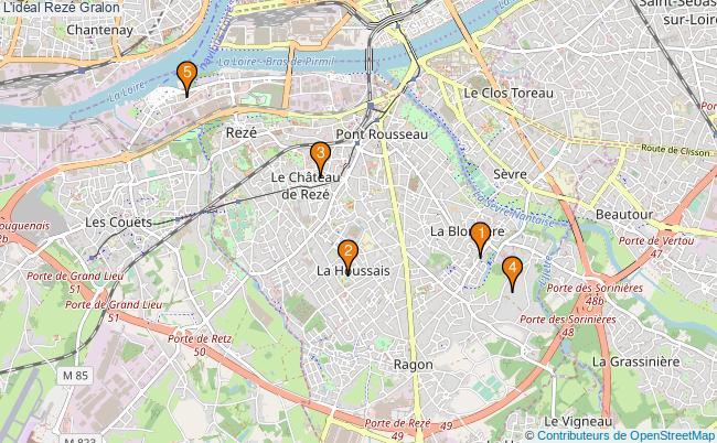 plan L'idéal Rezé Associations l'idéal Rezé : 5 associations