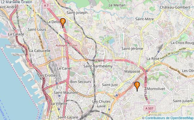 plan L2 Marseille Associations L2 Marseille : 2 associations