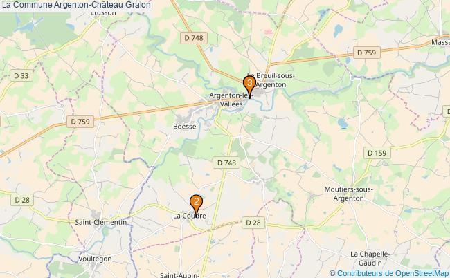 plan La Commune Argenton-Château Associations La Commune Argenton-Château : 3 associations