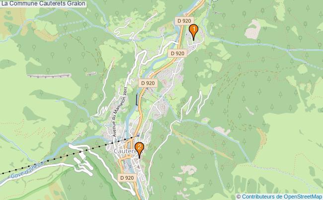plan La Commune Cauterets Associations La Commune Cauterets : 2 associations