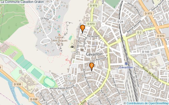 plan La Commune Cavaillon Associations La Commune Cavaillon : 3 associations
