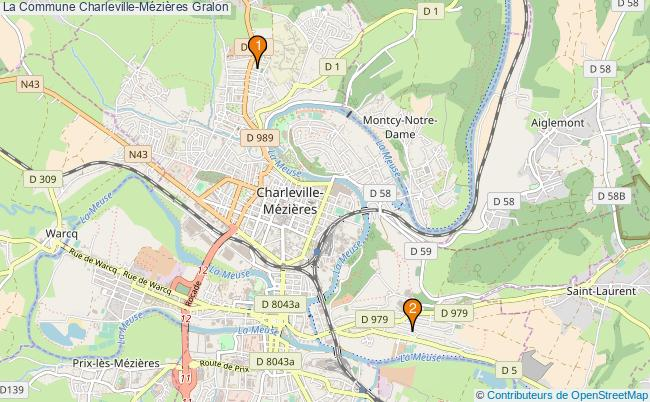 plan La Commune Charleville-Mézières Associations La Commune Charleville-Mézières : 2 associations