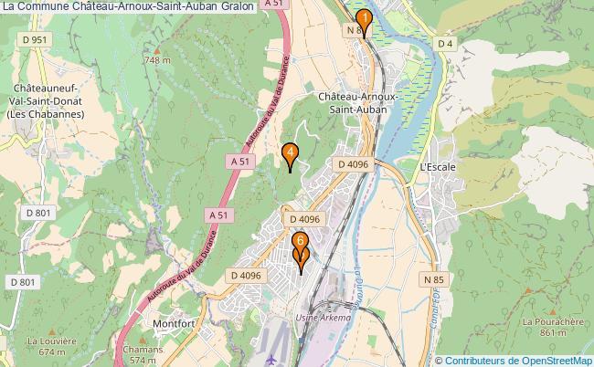 plan La Commune Château-Arnoux-Saint-Auban Associations La Commune Château-Arnoux-Saint-Auban : 6 associations