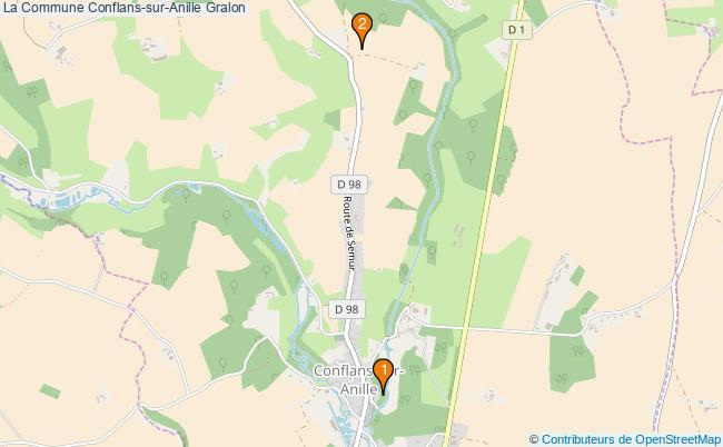 plan La Commune Conflans-sur-Anille Associations La Commune Conflans-sur-Anille : 2 associations