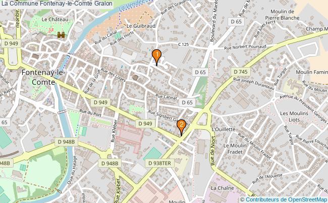 plan La Commune Fontenay-le-Comte Associations La Commune Fontenay-le-Comte : 2 associations