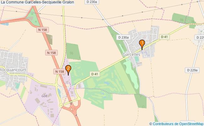 plan La Commune Garcelles-Secqueville Associations La Commune Garcelles-Secqueville : 2 associations