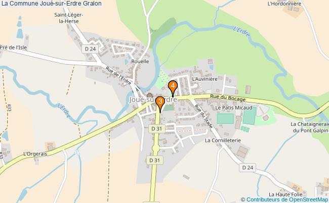 plan La Commune Joué-sur-Erdre Associations La Commune Joué-sur-Erdre : 5 associations