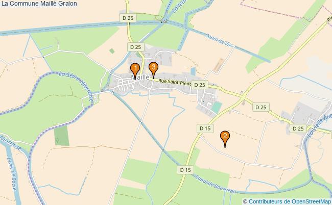 plan La Commune Maillé Associations La Commune Maillé : 4 associations
