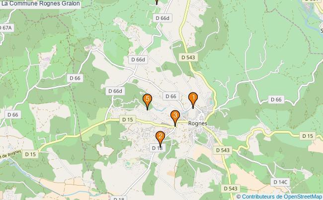 plan La Commune Rognes Associations La Commune Rognes : 5 associations
