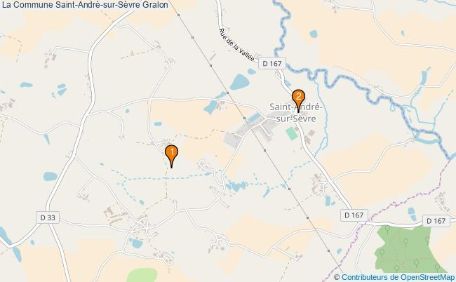 plan La Commune Saint-André-sur-Sèvre Associations La Commune Saint-André-sur-Sèvre : 3 associations