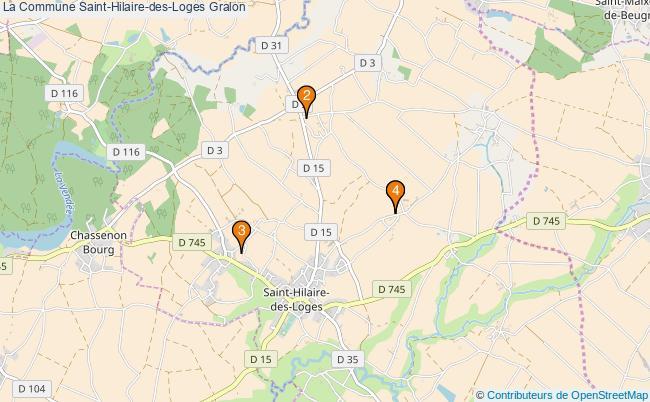 plan La Commune Saint-Hilaire-des-Loges Associations La Commune Saint-Hilaire-des-Loges : 4 associations